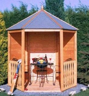 gazebo open corner summerhouse image