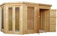 mercia corner summerhouse with shed small image