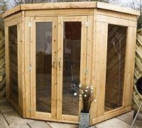 standard and premier 7x7 corner summerhouse small image