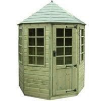 tiger elite pressure treated 6x6 octagonal corner summerhouse small image