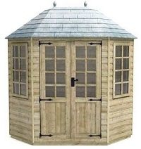 tiger elite pressure treated 8x6 octagonal summerhouse small image