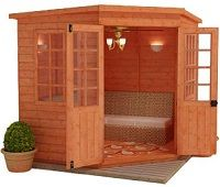 tiger georgian corner summerhouse small image